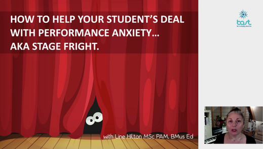 Helping your student with stage fright